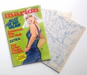 ★ MARION - MODEJOURNAL FÜR SELBSTSCHNEIDERINNEN ★  Vintage  Modezeitschrift mit Schnittmusterbogen,  Ausgabe Mai 1976