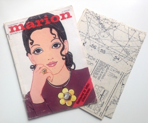 ★ MARION - MODEJOURNAL FÜR SELBSTSCHNEIDERINNEN ★  Vintage  Modezeitschrift mit Schnittmusterbogen,  Ausgabe Oktober 1970