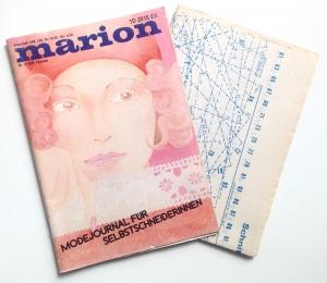 ★ MARION - MODEJOURNAL FÜR SELBSTSCHNEIDERINNEN ★  Vintage  Modezeitschrift mit Schnittmusterbogen,  Ausgabe Februar 1975
