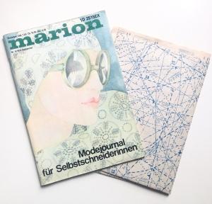 ★ MARION - MODEJOURNAL FÜR SELBSTSCHNEIDERINNEN ★  Vintage  Modezeitschrift mit Schnittmusterbogen,  Ausgabe September 1974
