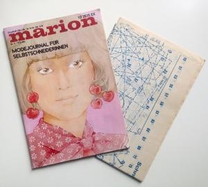 ★ MARION - MODEJOURNAL FÜR SELBSTSCHNEIDERINNEN ★  Vintage  Modezeitschrift mit Schnittmusterbogen,  Ausgabe Mai 1975