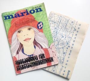 ★ MARION - MODEJOURNAL FÜR SELBSTSCHNEIDERINNEN ★  Vintage  Modezeitschrift mit Schnittmusterbogen,  Ausgabe April 1973