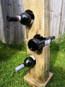 Weinregal Weinständer aus Holz, Handgemacht