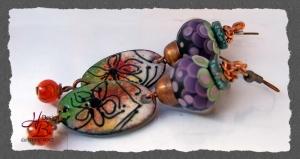 Ohrhaken Enamel Purple, Kupfer Ohrhaken, Ohrschmuck, Geschenke,SRA #131