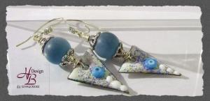 Ohrhaken Enamel Purple, Kupfer Ohrhaken, Ohrschmuck, Geschenke, SRA #131