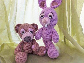 Bär und Hase ☆ Häkelanleitung Amigurumi ☆  Valentinstag