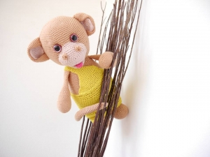 Affe zum Kuscheln XXL ☆ Häkelanleitung ☆ auch für Anfänger