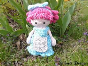 Puppe Rosalinda Chibiwelt ☆ Häkelanleitungen ☆ Komplettset