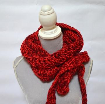 Vintage Liebe Schluppenschal, Schleifenschal, der Schal mit der Schleife  rot Melimelo