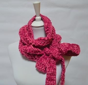 Vintage Liebe Schluppenschal, Schleifenschal, der Schal mit der Schleife  pink meliert