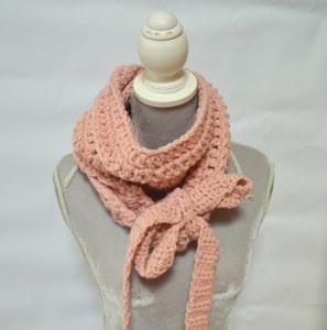 Vintage Liebe Schluppenschal, Schleifenschal, der Schal mit der Schleife  in rosa