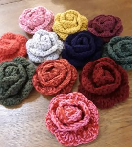 Ansteckblume ROSE  Brosche passend zu meinen Loops
