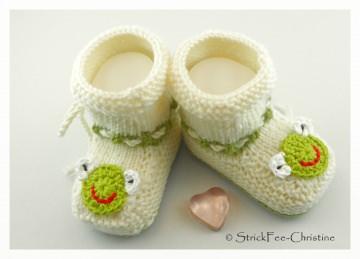 handgestrickte warme Babyschühchen 100 % Wolle (Merino)