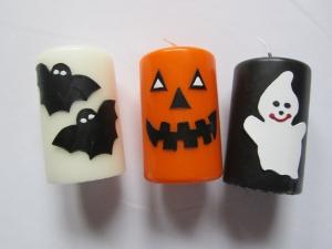 Kerzenset für Halloween - Handarbeit kaufen