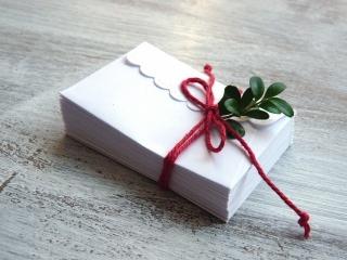 Miniumschlag, kleiner Umschlag, kleines Kuvert, Minikuvert, Umschläge, klein, weiß, 20 Stück