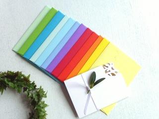 Miniumschlag, Minikarte, kleiner Umschlag, kleines Kuvert, Minikuvert, Umschlagset, klein,  12 Stück