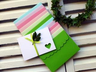 Kartenset, Miniumschlag, Minikarte, kleiner Umschlag, kleines Kuvert, Minikuvert, klein,  12 Stück