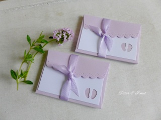 Kartenset, Miniumschlag, Minikarte, kleiner Umschlag, kleines Kuvert, Minikuvert, klein,  10 Stück
