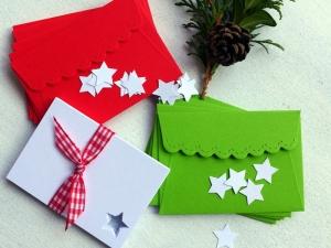 Adventskalender für Erwachsene, kleiner Briefumschlag, Stern