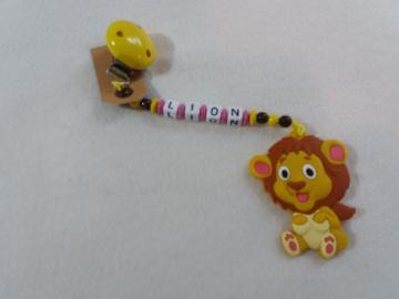 Handgemachte Beißkette mit Holzperlen,Kunststoffbuchstaben und Silikonanhänger  (Kopie id: 40207)