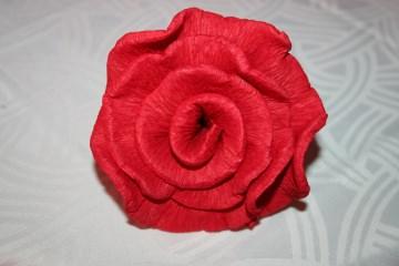 50 x rot Krepprosen groß Hochzeit Jubiläum Taufe Kommunion Konfirmation Feier