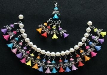 25 x Perlenengel bunt Glücksbringer Schutzengel Gastgeschenk Hochzeit Taufe Kommunion Konfirmation