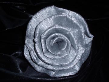 30 x Krepprosen silber Goldhochzeit Jubiläum Deko Hochzeit Blumen