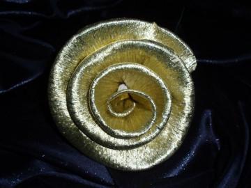 50 x kleine Krepprosen gold Goldhochzeit Jubiläum Deko Hochzeit Blumen