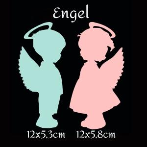Tischkarte - Engel - Mädchen / Junge - Taufe / Geburt - Scrapbooking