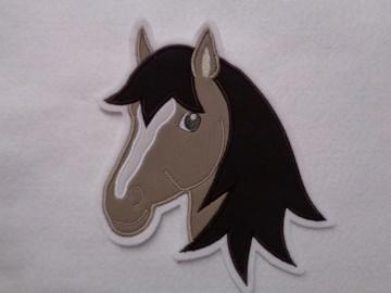 Applikation ♥ Pferdekopf ♥ Aufnäher ♥ braun  ♥  - Handarbeit kaufen
