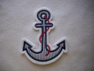 ♥ Anker ♥ Applikation ♥ Aufnäher ♥ maritim ♥ blau  - Handarbeit kaufen