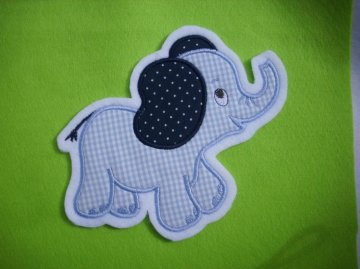 niedlicher Elefant ♥ hellblau ♥ Applikation ♥ Aufnäher ♥ (Kopie id: 38145)