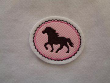 Pony gestickt ♥ süsse Applikation ♥ Aufnäher ♥ rosa