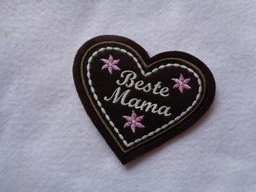 Lebkuchenherz Beste Mama ♥ Applikation ♥ Aufnäher ♥   - Handarbeit kaufen