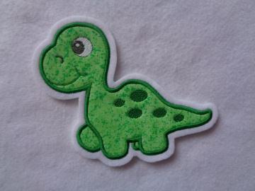 Süsse Dino-Applikation ♥ Aufnäher ♥ grün ♥   - Handarbeit kaufen