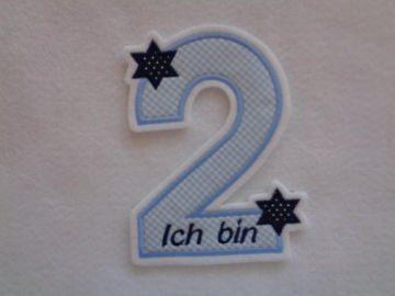süsse Zahl , Geburtstagszahl mit Sternchen ★ Applikation : ★ Aufnäher : ★