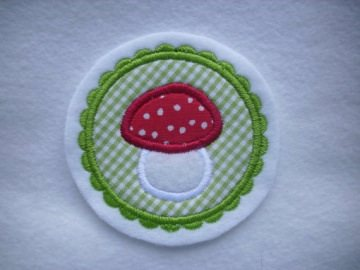 Pilz Button ☆   Patch ☆  Aufnäher ☆ Applikation