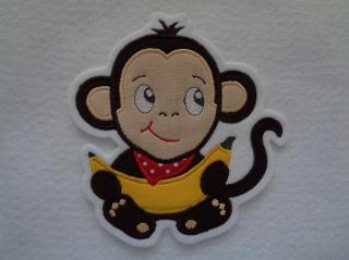 Niedlicher Affe ☆ Affenbaby  ☆ Applikation ☆ Aufnäher