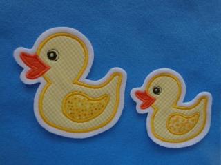 Süsse Ente groß und kleines Entchen ♥ Applikation ♥ Aufnäher - Handarbeit kaufen