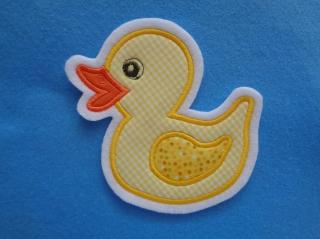 Süsse Ente / Entchen ♥ Applikation ♥ Aufnäher (Kopie id: 100079641) - Handarbeit kaufen