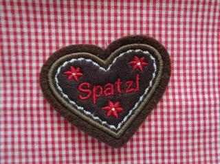 Aufnäher ♥   Applikation ♥ Mini-Lebkuchenherz - Handarbeit kaufen