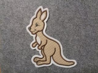 Süsses Känguru ♥ Applikation ♥ Aufnäher  - Handarbeit kaufen