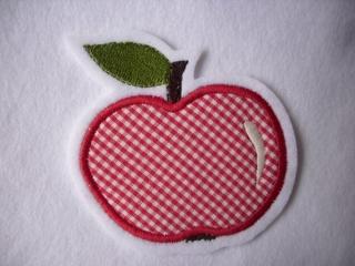 niedlicher  Apfel   ☆ Applikation  ☆ Aufnäher  (Kopie id: 100106267) - Handarbeit kaufen