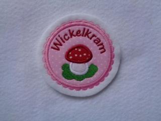 Süsse Applikation mit appl. Pilz Wickelkram ♥ - Aufnäher ♥ Applikation  - Handarbeit kaufen
