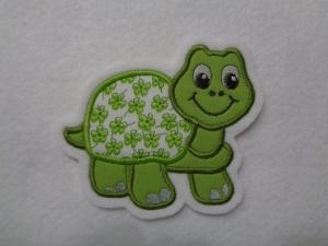 Süsse Schildkröte ☆ Applikation ☆ Aufnäher ☆ grün ☆  (Kopie id: 100125000) - Handarbeit kaufen