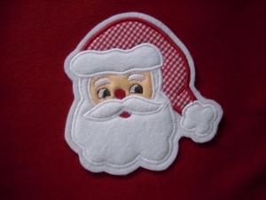 süsser Nikolaus / Weihnachtsmann ♥ Aufnäher ♥ Applikation