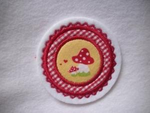 Mini-Button Pilz ♥ Applikation ♥ Aufnäher♥  (Kopie id: 100125256) - Handarbeit kaufen