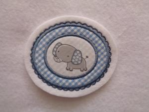 süsse Aufnäher mit kleinem Elefanten ♥ Applikation ♥ - Handarbeit kaufen