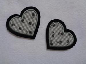 Applikation/Aufnäher ♥  2 kleine Herzchen ♥ - Handarbeit kaufen
