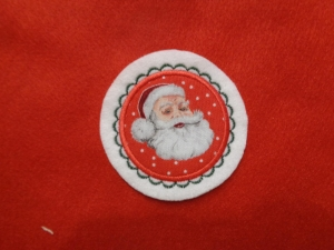 süsse Aufnäher Button Nikolaus ♥ Applikation ♥   (Kopie id: 100130793)